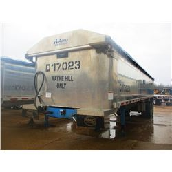 "2017 MAC DUMP TRAILER, VIN/SN:5MADA342XHC039614 - T/A, 34' LENGTH, 38"" HIGH SIDE, SMOOTH SLIDE ALUM"