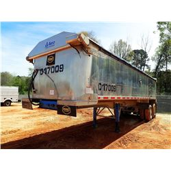 "2017 MAC DUMP TRAILER, VIN/SN:5MADA3027HS039503 - T/A, 30' LENGTH, 38"" HIGH SIDE, SMOOTH SLIDE ALUM"