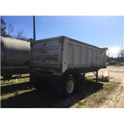 2005 WARREN WRDT2228-2-AS END DUMP TRAILER, VIN/SN:5P347455 - T/A, TARP, 11R22.5 TIRES (SELLING OFFS