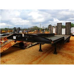 FLATBED TRAILER, - T/A, 34' LENGTH, RAMPS, DOVETAIL, 235/75R17.5 TIRES (COUNTY OWNED)
