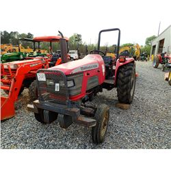 MAHINDRA 4500 FARM TRACTOR, VIN/SN:UP1107 - ROLL BAR, (1) REMOTE, METER READING 5,002 HOURS