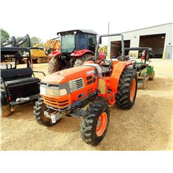 KIOTI DK45 FARM TRACTOR, VIN/SN:056700060 - MFWD, ROLL BAR, METER READING 337 HOURS