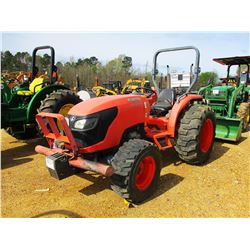 2010 KUBOTA MX5100D FARM TRACTOR, VIN/SN:56501 - MFWD, (1) REMOTE, ROLL BAR, METER READING 747 HOURS