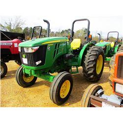 2012 JOHN DEERE 5055E FARM TRACTOR, VIN/SN:112190 - (1) REMOTE, ROLL BAR, METER READING 862 HOURS