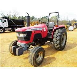 MAHINDRA 6000 FARM TRACTOR, VIN/SN:RP2043 - (1) REMOTE, ROLL BAR, METER READING 690 HOURS
