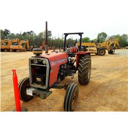 MASSEY FERGUSON 261 FARM TRACTOR, VIN/SN:40016 - 1 REMOTE, ROLL BAR, METER READING 3,566 HOURS