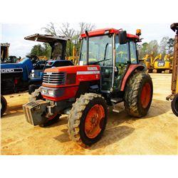 KUBOTA M8200 FARM TRACTOR, VIN/SN:51529 - MFWD, 3PTH, PTO, 3 HYD REMOTES, METER READING 3,899 HOURS