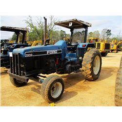 FORD 7840 FARM TRACTOR, VIN/SN:BD76823 - POWERSTAR SL, 3 REMOTES, CANOPY, 18.4-36 TIRES, METER READI