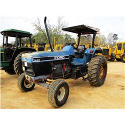 FORD 7840 FARM TRACTOR, VIN/SN:BD76837 -POWERSTAR SL, 3 REMOTES, CANOPY, 18.4-36 TIRES, METER READIN