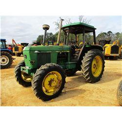 JOHN DEERE 3040 FARM TRACTOR, VIN/SN:508376 - MFWD, 2 REMOTES, CANOPY, 16.9-14 TIRES