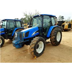 NEW HOLLAND TL100A FARM TRACTOR, VIN/SN:HJJ051455 - MFWD, 3 REMOTES, CAB, A/C, 18.4-30 TIRES, METER