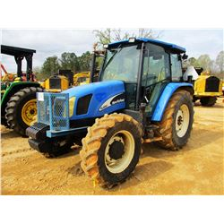 NEW HOLLAND TL100A FARM TRACTOR, VIN/SN:HJ5021852 - MFWD, 3 REMOTES, CAB, A/C, 18.4-30 TIRES (COUNTY
