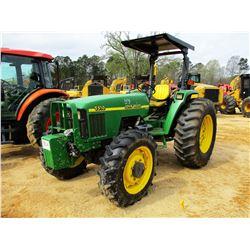 JOHN DEERE 5510 FARM TRACTOR, VIN/SN:550277 - MFWD, 3 REMOTES, CANOPY, 18.4-30 TIRES, METER READING