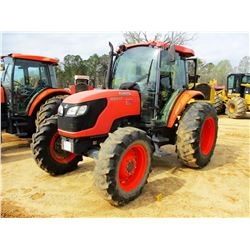 2011 KUBOTA M9540 FARM TRACTOR, VIN/SN:90272 - MFWD, 3 REMOTES, CAB, A/C, 18.4-30 TIRES (COUNTY OWNE