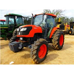 KUBOTA M9540 FARM TRACTOR, VIN/SN:51659 - MFWD, 3 REMOTES, CAB, A/C, 18.4-30 TIRES