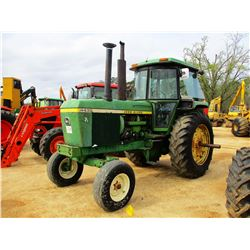 JOHN DEERE 4430 FARM TRACTOR, VIN/SN:013623 - 2 REMOTES, CAB, A/C, SET UP FOR DUALS, METER READING 2