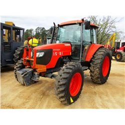KUBOTA M108S FARM TRACTOR, VIN/SN:70504 - MFWD, 3 REMOTES, CAB, A/C, 18.4-34 TIRES, METER READING 1,