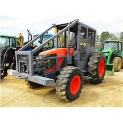 KUBOTA M108SHD FARM TRACTOR, VIN/SN:M108550294 - MFWD, (2) REMOTES, WINCH, CANOPY, SWEEPS, SCREENS,