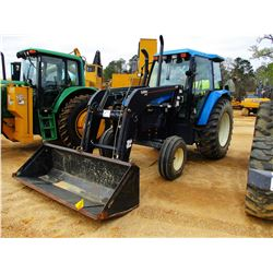 NEW HOLLAND TS110 FARM TRACTOR, VIN/SN:100057B - 2595 BUHLER ALLIED FRONT BUCKET ATTACH, 3 REMOTES,