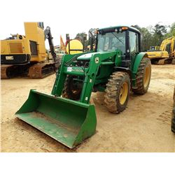 2004 JOHN DEERE 6420 FARM TRACTOR, VIN/SN:395918 - MFWD, 2 REMOTES, JOHN DEERE 640 LOADER BUCKET, CA