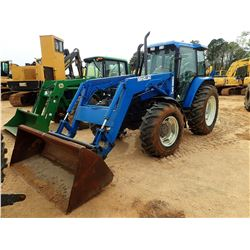 NEW HOLLAND TS110 FARM TRACTOR, VIN/SN:144988BX618 - MFWD, 3 PT, PTO, 4 REMOTES, 7511 FRONT LOADER,