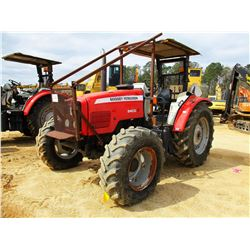 MASSEY FERGUSON 5460 FARM TRACTOR, VIN/SN:N195071 - MFWD, 4 REMOTES, CANOPY, 18.4R34 TIRES, METER RE