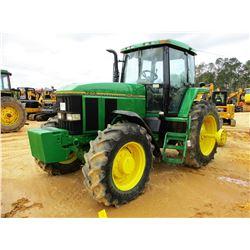 JOHN DEERE 7800 FARM TRACTOR, VIN/SN:004340 - MFWD, 4 REMOTES, CAB, A/C, DUALS, 46085R-28 TIRES