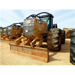 2015 CAT 535D SKIDDER, VIN/SN:MTP00235 - DUAL ARCH, WINCH, CAB, A/C, 35.5-32 TIRES, METER READING 4,