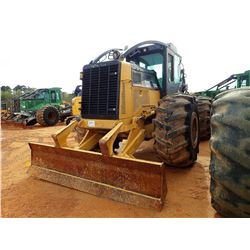 2010 CAT 535C SKIDDER, VIN/SN:53500363 - GRAPPLE, DUAL ARCH, WINCH, CAB, A/C, 30.5L-32 TIRES, METER