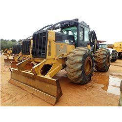 2012 CAT 525C SKIDDER, VIN/SN:52501463 - GRAPPLE, DUAL ARCH, WINCH, CAB, A/C, 30.5L-32 TIRES, METER