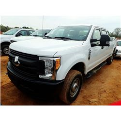 2017 FORD F250XL PICKUP, VIN/SN:1FT7W2B66HEE05188 - 4X4, CREW CAB, V8 GAS ENGINE, A/T, LONG BED, ODO