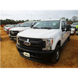 2017 FORD F250XL PICKUP, VIN/SN:1FT7W2B64HEE05187 - 4X4, CREW CAB, V8 GAS ENGINE, A/T, LONG BED, ODO