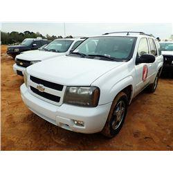 2009 CHEVROLET TRAIL BLAZER SUV, VIN/SN:1GNDT335592102085 - GAS ENGINE, A/T, ODOMETER READING 80,446