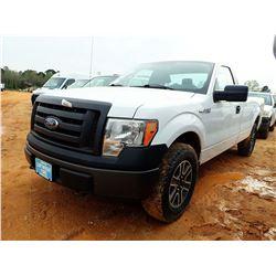 2012 FORD F150 PICKUP; VIN/SN:1FTMF1EM8CKD31578 -4X4, V6 GAS, A/T, ODOMETER READING 142,651 MILES