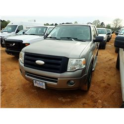 2008 FORD EXPEDITION XLT VIN/SN:1FMFU15598LA86679 - GAS ENGINE, A/T, ODOMETER READING 152,012 MILES