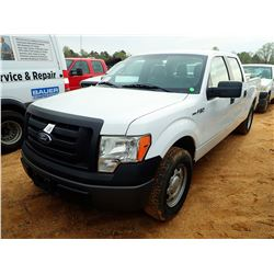2011 FORD F150 XL PICKUP, VIN/SN:1FTFW1CF4BFB28594 - CREW CAB, GAS ENGINE, A/T, ODOMETER READING 169