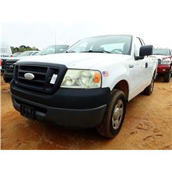 2008 FORD F150 PICKUP, VIN/SN:1FTRF12W78KC83848 - EXT CAB, GAS ENGINE, A/T(UTILITY COMPANY OWNED)