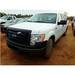 2012 FORD F150XL PICK UP, VIN/SN:1FTEX1CM0CFB58717 - EXT CAB, GAS ENGINE, A/T, ODOMETER READING 143,