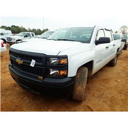 2014 CHEVROLET 1500 PICK UP, VIN/SN:3GCUKPEC6EG353322 - 4X4, CREW CAB, V8 GAS ENGINE, A/T, ODOMETER