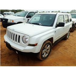 2013 JEEP PATRIOT SUV, VIN/SN:1C4NJRBB7DD238724 - GAS ENGINE, A/T, ODOMETER READING 78,106 MILES (CO
