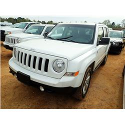 2013 JEEP PATRIOT SUV, VIN/SN:1C4NJRBB0DD238726 - GAS ENGINE, A/T, ODOMETER READING 83,391 MILES (CO
