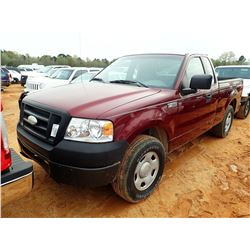 2006 FORD F150 PICK UP, VIN/SN:1FTRF12236NB27444 - GAS ENGINE, A/T, ODOMETER READING 202,517 MILES (