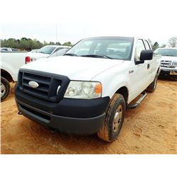 2007 FORD F150 PICK UP, VIN/SN:1FTRX14W87FA68710 - 4X4, EXT CAB, GAS ENGINE, A/T, ODOMETER READING 1