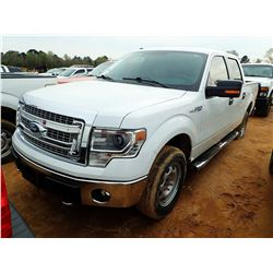 2014 FORD F150 PICKUP; VIN/SN:1FTFW1EF2EFC85462 -4X4, CREW CAB, V8 GAS, A/T, ODOMETER READING 113,66