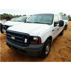 2006 FORD F250 PICK UP, VIN/SN:1FTSW20526EB51416 - CREW CAB, V8 GAS ENGINE, A/T, ODOMETER READING 27