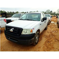 2008 FORD F150 PICKUP, VIN/SN:1FTRF12W08KC86896 - EXT CAB, GAS ENGINE, A/T, ODOMETER READING 114,402