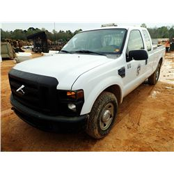 2008 FORD F250 PICKUP, VIN/SN:1FTWX20548ED03807 - EXT CAB, V8 GAS ENGINE, A/T, ODOMETER READING 170,