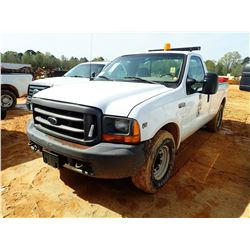 2000 FORD F250 PICKUP, VIN/SN:1FTNF20L1YEA70907 - V8 GAS ENGINE, A/T, AIR COMPRESSOR, ODOMETER READI