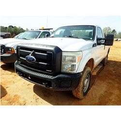 2011 FORD F250 PICKUP, VIN/SN:1FTBF2B61BEA37133 - 4X4, V8 GAS ENGINE, A/T, ODOMETER READING 76,195 M