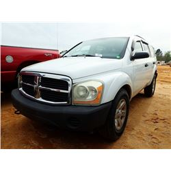 2004 DODGE DURANGO VIN/SN:1D4HB38N34F208555 - GAS ENGINE, A/T, ODOMETER READING 169,207 MILES (COUNT